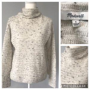 Madewell Donegal Belmont mockneck sweater.